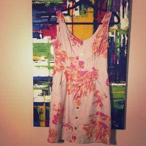 Button Down Floral Tank Dress